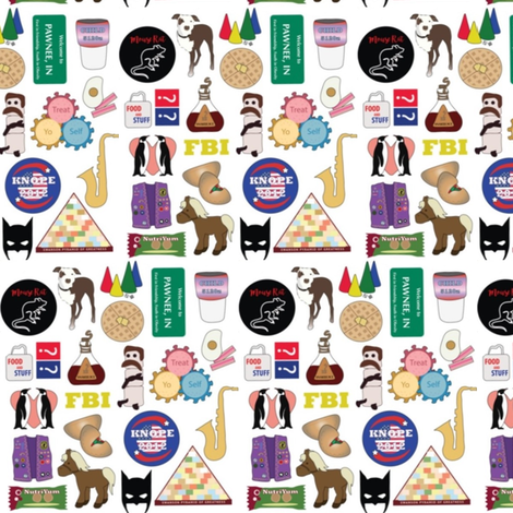 Parks & Rec Icons fabric by nerdfabrics on Spoonflower - custom fabric