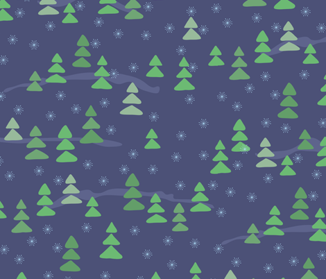 Winter Forest fabric by jaanahalme on Spoonflower - custom fabric