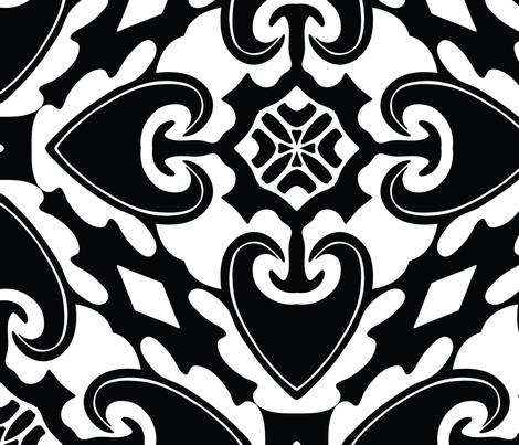 Spear Mosaic fabric by nettieandliz on Spoonflower - custom fabric