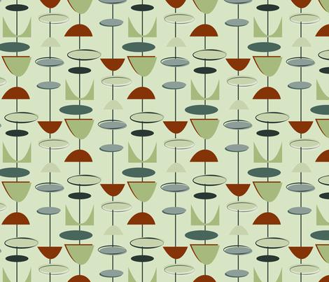 91c95bfdfbca6 Mid century modern geometric-green fabric by roofdog designs on Spoonflower  - custom fabric