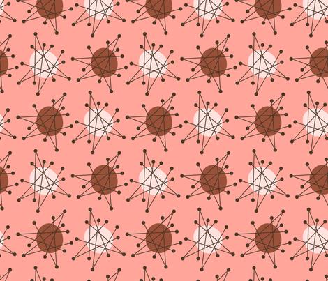 Atomic starburst pink fabric by roofdog_designs on Spoonflower - custom fabric
