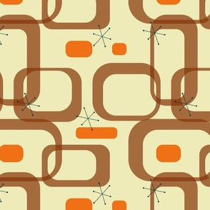 Mid century modern orange rectangles