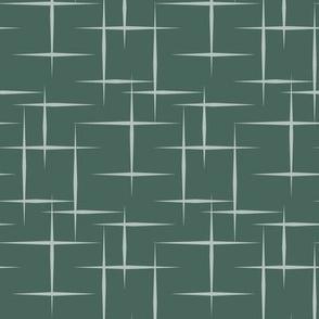 Atomic starbursts dark green