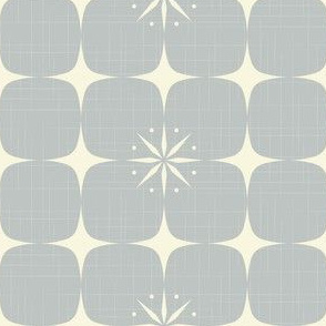 Atomic starburst grid grey