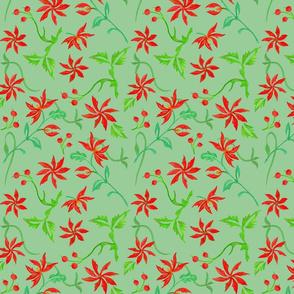 winter flowers, green