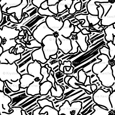 Large Black And White Roses Sketch