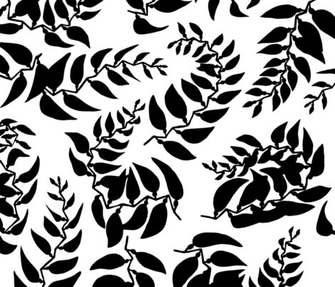 Floating Fronds fabric by beckarahn on Spoonflower - custom fabric
