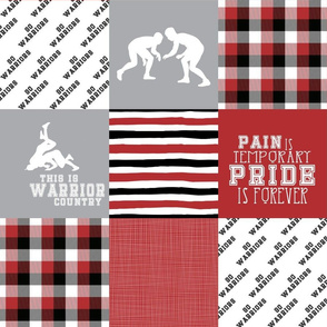 Wrestling//Warriors - Wholecloth Cheater Quilt
