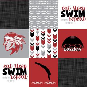 Eat Sleep Swim//Warriors - Wholecloth Cheater Quilt