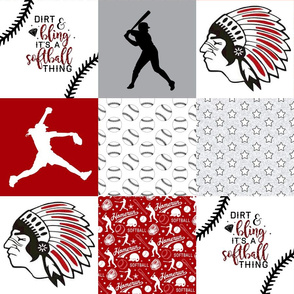 Softball//Chickasaws - Wholecloth Cheater Quilt