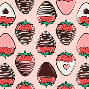 chocolate covered strawberries - pink