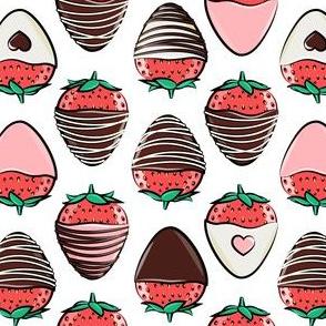 chocolate covered strawberries - white