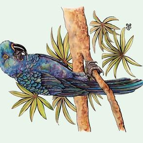 Tropical Blue Parrot-Full Yard design by ArtfulFreddy