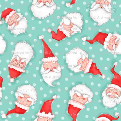 All the Santas pattern