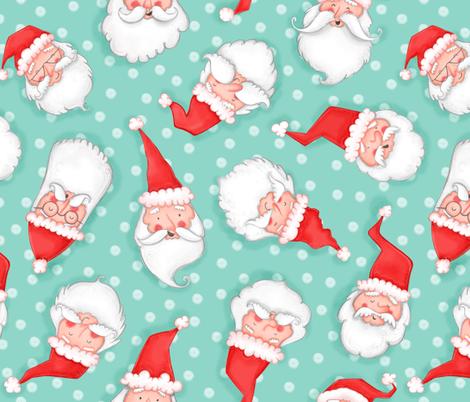 All the Santas pattern fabric by aishwaryaillustrates on Spoonflower - custom fabric