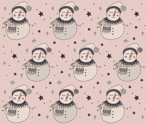 letitsnow_man fabric by whiteparrot on Spoonflower - custom fabric