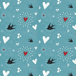 Inkblot Valentine - retraux