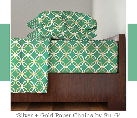 Silver +  Gold Paper Chains by Su_G_©SuSchaefer