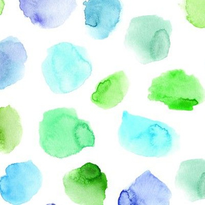 Tiffany blue tenderness || watercolor stains for nursery