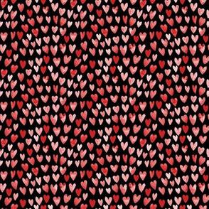 SMALL - watercolor valentines fabric watercolour heart fabrics valentine design