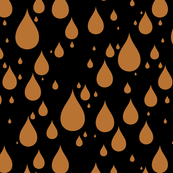 Black Background Copper Brown Color Rainy Day Waterdrops
