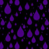 Black Background Indigo Color Rainy Day Waterdrops
