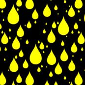 Black Background Lemon Citrus Yellow Color Rainy Day Waterdrops