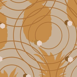 Pineapple Caramel-Fruit Delight. Seamless Repeat Pattern Background