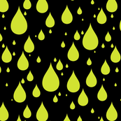 Black Background Pear Fruit Yellow Green Color Rainy Day Waterdrops