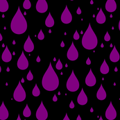 Black Background Purple Color Rainy Day Waterdrops