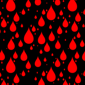 Black Background Red Blood Color Rainy Day Waterdrops