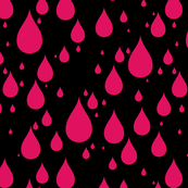 Black Background Ruby Color Rainy Day Waterdrops