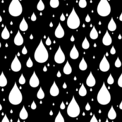 Black Background White Color Rainy Day Waterdrops