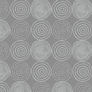 Tree Rings - Gray