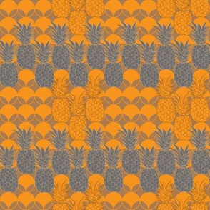 Pineapple Hive-Fruit Delight. Repeat Pattern illustration.