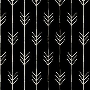Arrow Stripe on Black (arrows are cream)