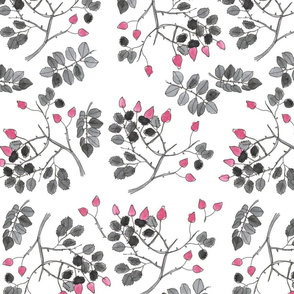 pink rose watercolor pattern