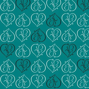 Sighthound hearts teal