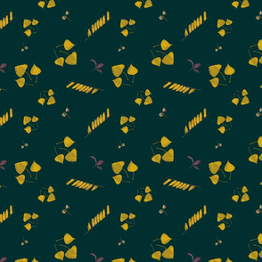 Golden autumn seamless pattern