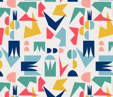 Abstract Shapes fabric by lapetitelecour on Spoonflower - custom fabric