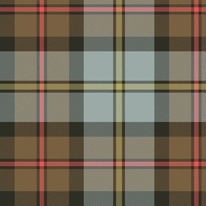 "MacLeod of Harris / green MacLeod / MacLeod hunting tartan, 6"" weathered / faded"