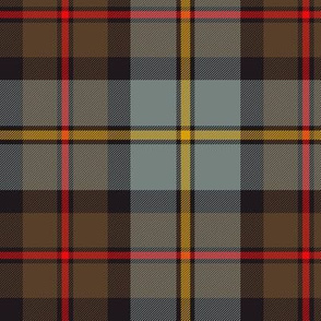 "MacLeod of Harris / green MacLeod / MacLeod hunting tartan, 6"" weathered dark"