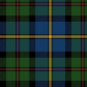 "MacLeod of Harris / green MacLeod / MacLeod hunting tartan, 6"" dark colors"