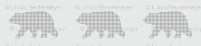 Bear Walk - Soft Gray Plaid
