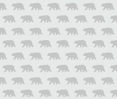 Bear Walk - Soft Gray Plaid fabric by gingerlous on Spoonflower - custom fabric