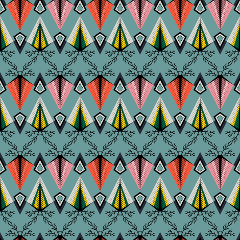 Indienne Small Pattern2 fabric by vannina on Spoonflower - custom fabric