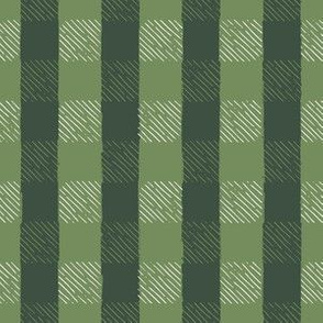Evergreen + Mossy Green Inky Gingham // Hand Drawn Details // Sing for Your Supper Modern Farmhouse Collection
