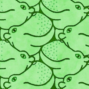 Heads Up Hippos! - green