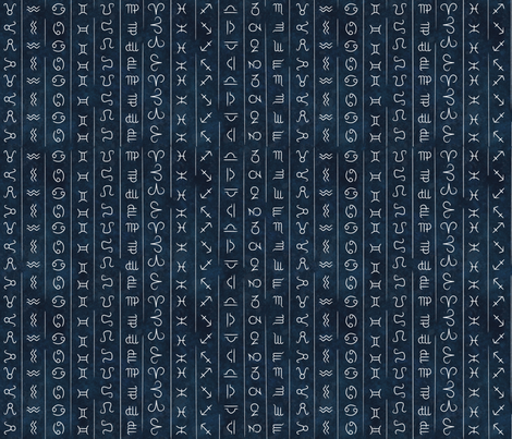 zodiac fabric fabric by the_outfoxed on Spoonflower - custom fabric