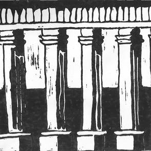 Black & White Columns - Ex Large